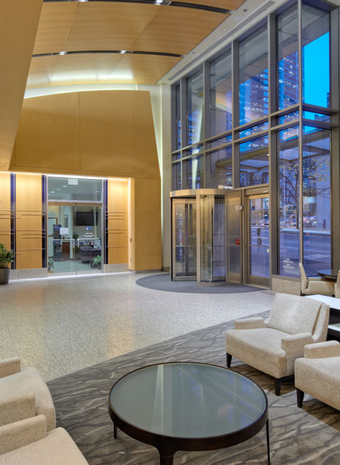 Lobby of Millennium Tower, Seattle, WA 98104