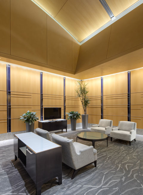 Lobby seating in Millennium Tower, Seattle, WA 98104