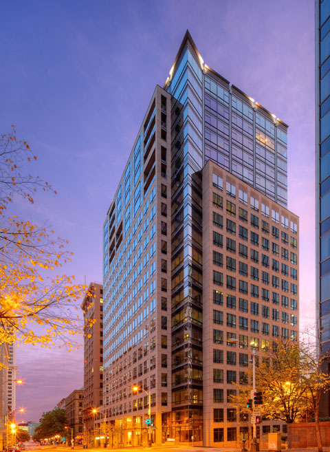 Exterior photo of Millennium Tower, Seattle, WA 98104